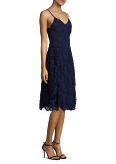Alice + Olivia Naomi Lace Fit-&-Flare Dress
