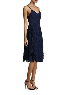 Alice + Olivia Naomi Lace Fit-&-Flare Dress