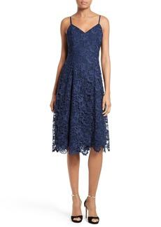 Alice + Olivia Naomi Spaghetti Strap Lace Dress