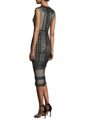 Alice + Olivia Nat Crocheted Sleeveless Midi Dress