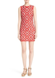 Alice + Olivia Nat Embellished Embroidered Minidress