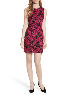 Alice + Olivia Nat Embellished Fitted Minidress
