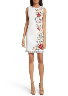 Alice + Olivia Nat Embroidered Minidress