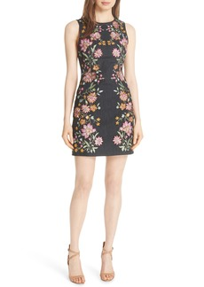 Alice + Olivia Nat Floral Embroidered Minidress
