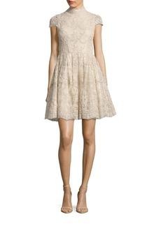 Alice + Olivia Natalina Fit-&-Flare Dress