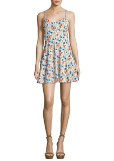Alice + Olivia Nella Button-Front Sleeveless Mini Dress