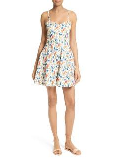 Alice + Olivia Nella Stretch Cotton Slipdress
