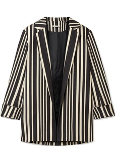 Alice + Olivia Neta striped cotton-blend blazer