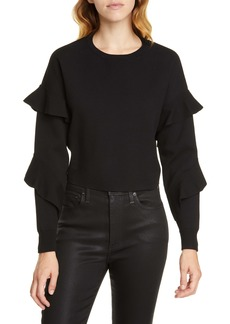 Alice + Olivia Nettie Ruffle Sleeve Sweater