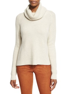 Alice + Olivia Nettie Transfer-Knit Ribbed Sweater