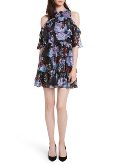 Alice + Olivia Nichola Cold Shoulder Floral Dress