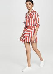 alice + olivia Nicky Draped Miniskirt