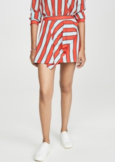 alice + olivia Nicky Draped Miniskirt