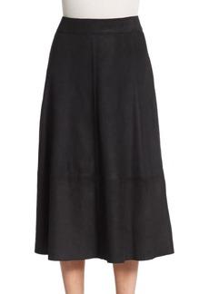 Alice + Olivia Nico Suede Midi Skirt
