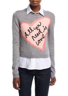 Alice + Olivia Nikia All You Need Love Pullover