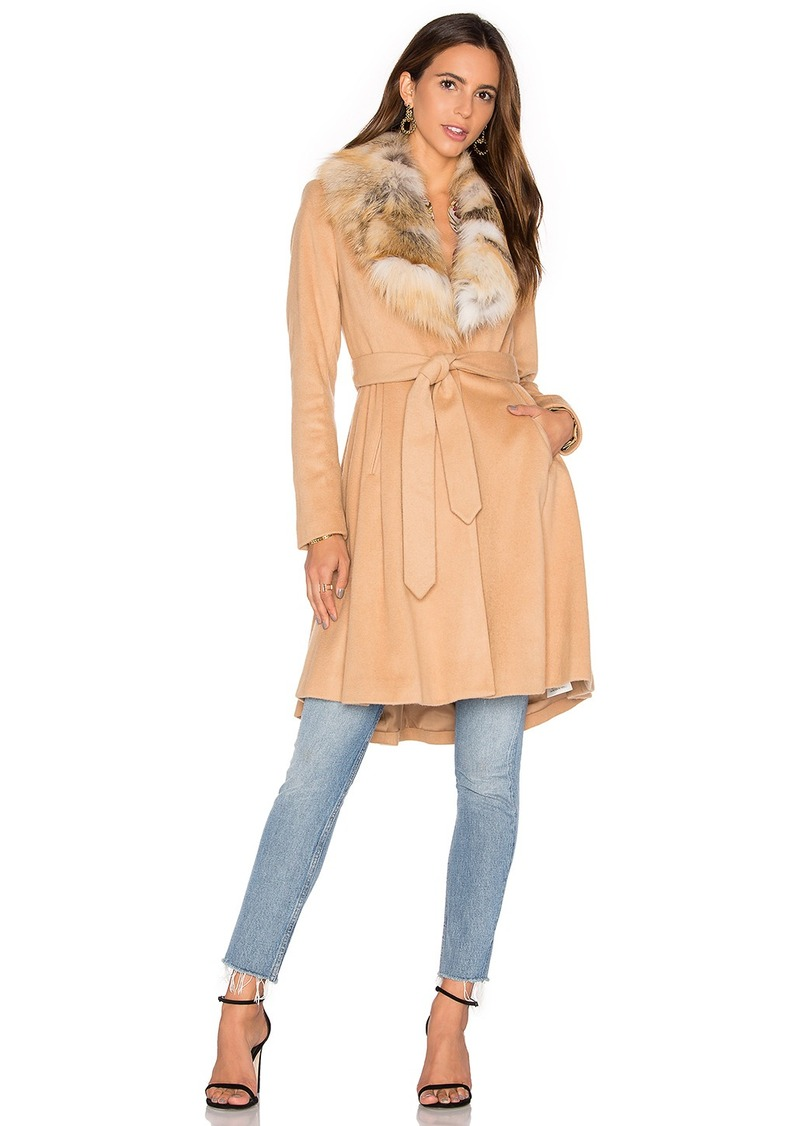 Alice + Olivia Nikita Natural Fox Fur Coat