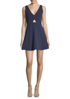 Alice + Olivia Nina Cut-Out Box Pleat Dress