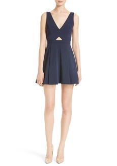 Alice + Olivia Nina Cutout Fit & Flare Dress