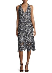 Alice + Olivia Noreen Floral Lace Midi Dress