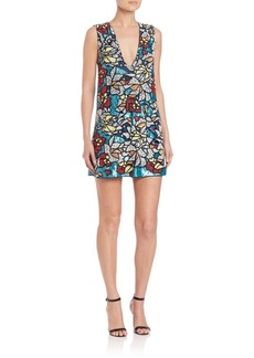 Alice + Olivia Odell Embellished Mini Dress