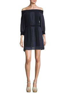 Alice + Olivia Off-The-Shoulder Dress