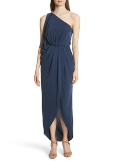 Alice + Olivia Oleta Side Drape Goddess Dress