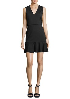 Alice + Olivia Onella V-Neck Sleeveless Fitted Dress