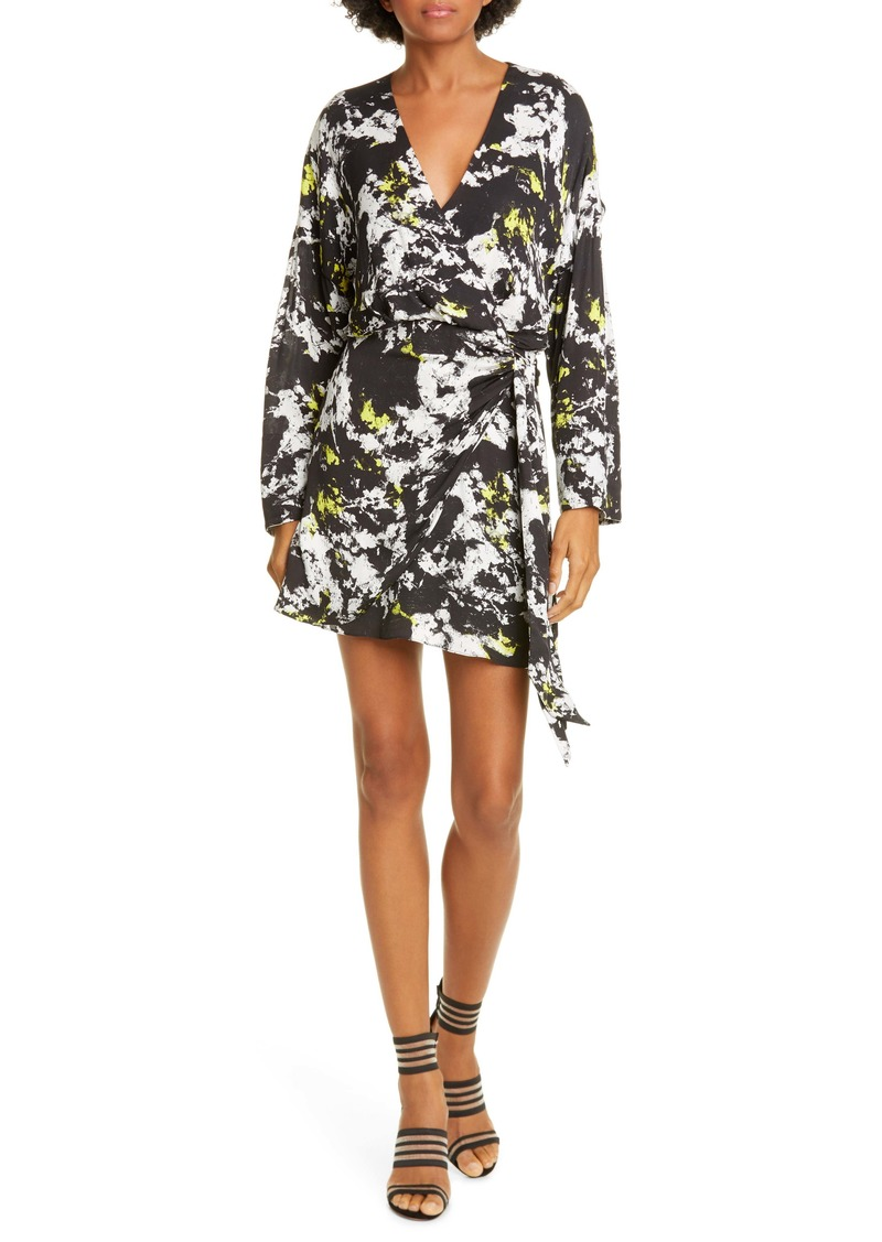 Alice + Olivia Ophelia Faux Wrap Long Sleeve Minidress