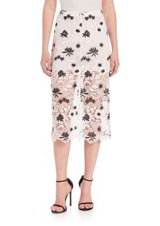 Alice + Olivia Ophelia Mid-Length Lace Skirt