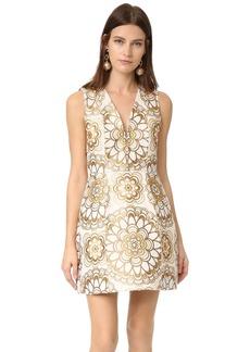 alice + olivia Pacey V Neck Lantern Dress
