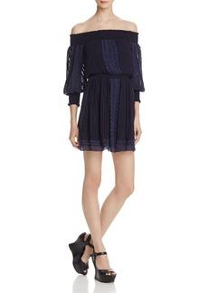 Alice + Olivia Pammy Off-the-Shoulder Dress