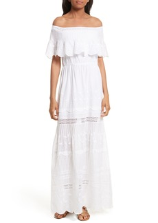 Alice + Olivia Pansy Off the Shoulder Maxi Dress