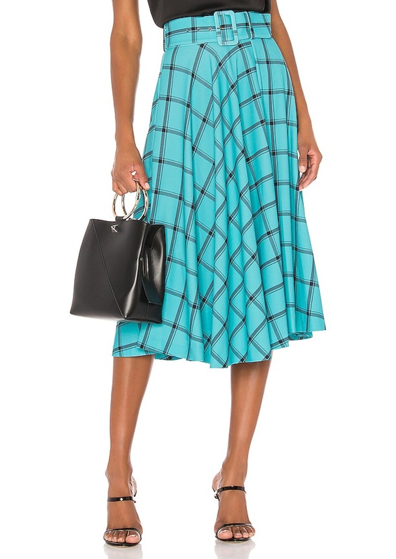 Alice + Olivia Parcell Flared Midi Skirt