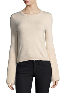 Alice + Olivia Parson Crewneck Bell-Sleeve Pullover Sweater