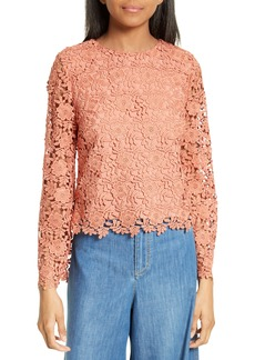 Alice + Olivia Pasha Bell Sleeve Lace Top
