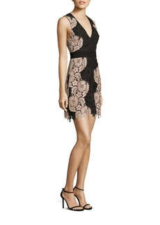 Alice + Olivia Patrice Embroidered Lace Dress