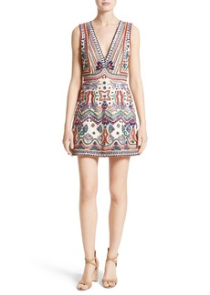Alice + Olivia Patty Embellished A-Line Dress