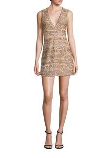 Alice + Olivia Patty Embellished Silk Dress