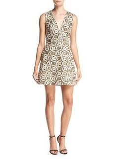 Alice + Olivia Patty Embroidered Lantern Dress