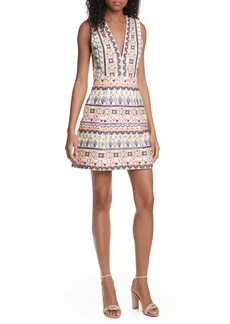 Alice + Olivia Patty Embroidered Minidress