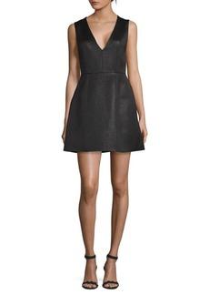 Alice + Olivia Patty Low V-neck A-line Dress