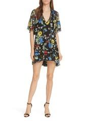 Alice + Olivia Pauline Ruffle Silk Blend Tunic Dress