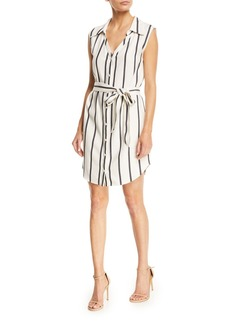Alice + Olivia Payton Striped Button-Front Shirtdress