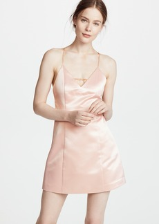 alice + olivia Pearl Deep V Lantern Dress