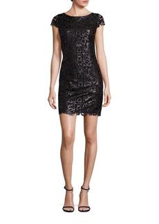Alice + Olivia Penni Faux Leather Lace Dress