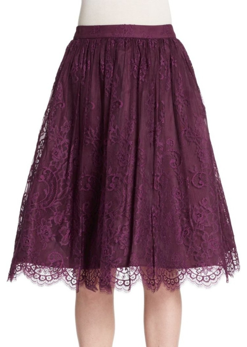 Alice + Olivia Perkins Lace Pouf Skirt