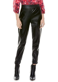 Alice + Olivia Pete Faux Leather Joggers