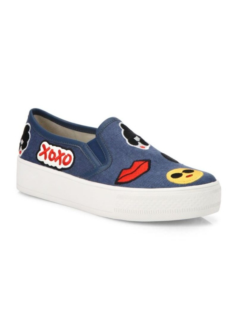 Alice + Olivia Pia Emoji Slip-On Sneakers