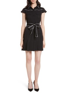 Alice + Olivia Pleated Shirtdress