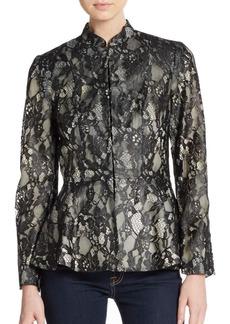 Alice + Olivia Polly Lace Peplum Jacket